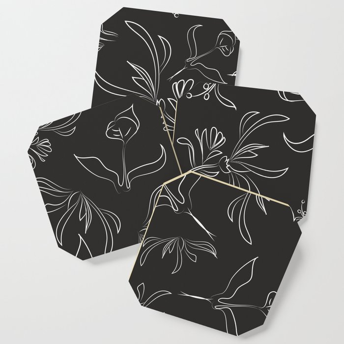 Hand Drawn Floral Coaster
