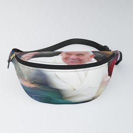 Pope Francis In Crowd of Faithful Acrylic 4 Fanny Pack