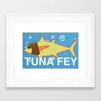 tina fey Framed Art Prints featuring Tuna Fey by Adrienne S. Price