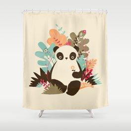 Flower Panda Shower Curtain