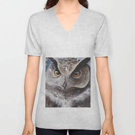"The Owl - ""Watch-me!"" - Animal - by LiliFlore Unisex V-Neck"