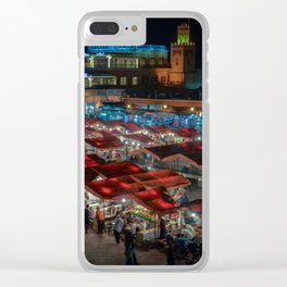 Jemaa el-Fnaa at Night Clear iPhone Case
