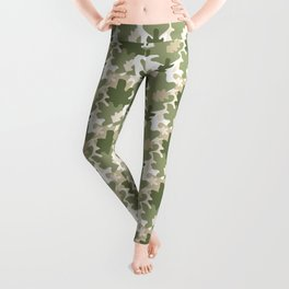 Pattern with leaves Leggings