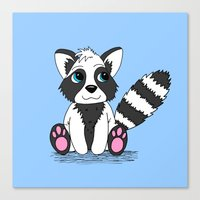 racoon Canvas Prints featuring Racoon by BlackBlizzard