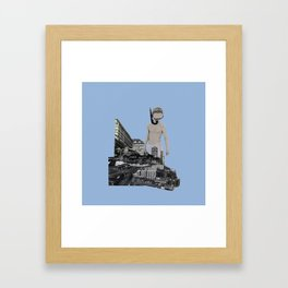 Dive in the city Framed Art Print