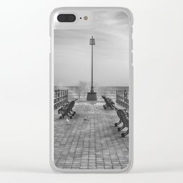 Swanage Jetty in Mono Clear iPhone Case