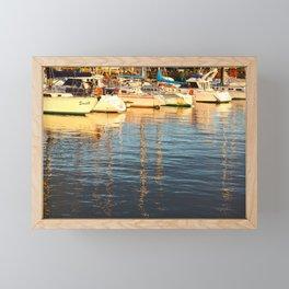 Sunset at the marina Framed Mini Art Print