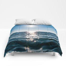 Sea Blue Sky sun Comforters