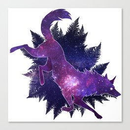 Astral Wolf Canvas Print