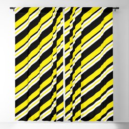 TEAM COLORS 1...double yellow,black and white. Blackout Curtain