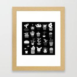 MIX SUCCULENTS2-B&W Framed Art Print