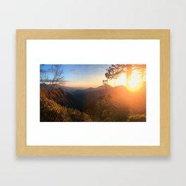 Kings Canyon Sunset Framed Art Print