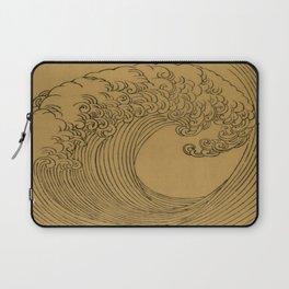 Vintage Golden Wave Laptop Sleeve