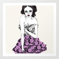 Floral Fashion Art Print
