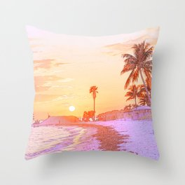 Beach Vibes Throw Pillow