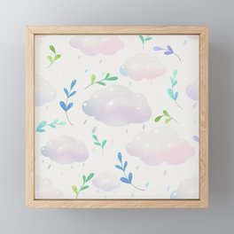 April clouds Framed Mini Art Print