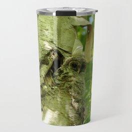 Baby owl camo Travel Mug