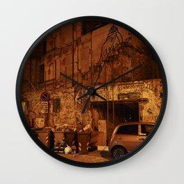Back Alley in Palermo Wall Clock