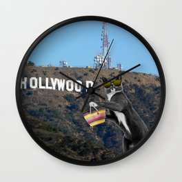 Ray in Hollywood Wall Clock