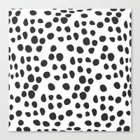 polka dot Canvas Prints featuring Polka dot by Lolita Stein