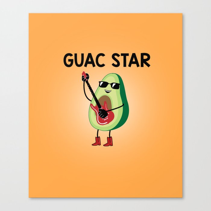 Baesic Guac Star Canvas Print