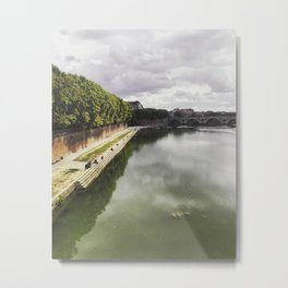 Lunch by the river Metal Print