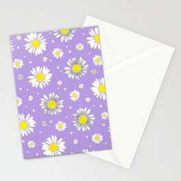 Daisies - Purple Stationery Cards