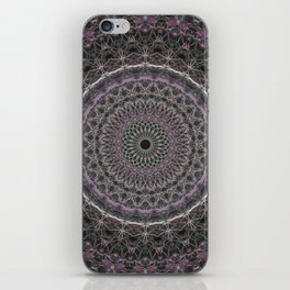 Detailed mandala with pink elements iPhone Skin