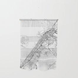 Dubai White Map Wall Hanging