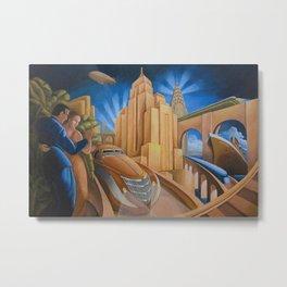 I Will Possess Your Heart - New York City Art Deco Landscape Metal Print