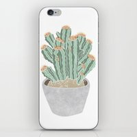 cactus iPhone & iPod Skins featuring Cactus by Veils and Mirrors