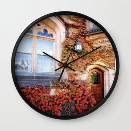 Ivy with Fall Colors, Princeton University, New Jersey Wall Clock