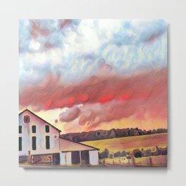 Pastorale Sunset Metal Print