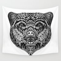 "ethnic Wall Tapestries featuring ""Ethnic Bear"" by beart24"