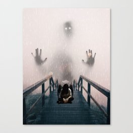 Scared Angel by GEN Z Canvas Print