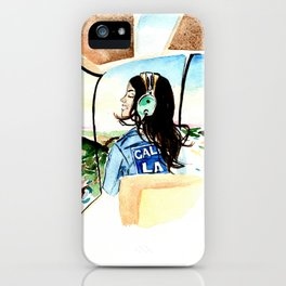 Pilot girl iPhone Case