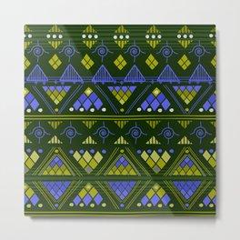 Boho Diamond Geometric Var. 3 Metal Print