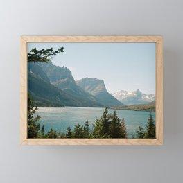 Glacier Lake Framed Mini Art Print