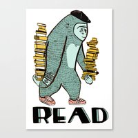 read Canvas Prints featuring READ by Zachariah  OHora