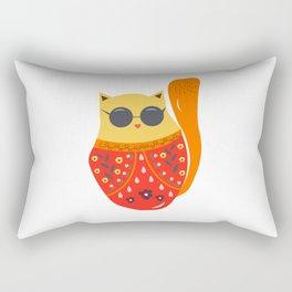 Undercover cat Rectangular Pillow