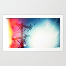 Tele Art Print