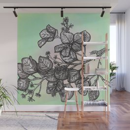 "Get Floral ""Earthly Measure Wall Mural"