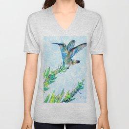 Hummingbird Lands-Barbara Chichester Unisex V-Neck