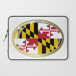 Maryland State Flag Oval Button Laptop Sleeve