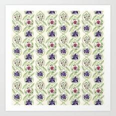 Nouveau Florals Art Print