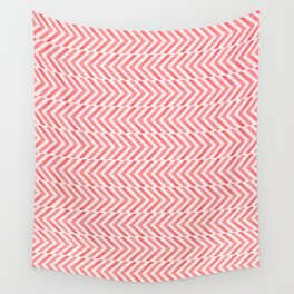 Red Geometric Watercolor Pattern Wall Tapestry