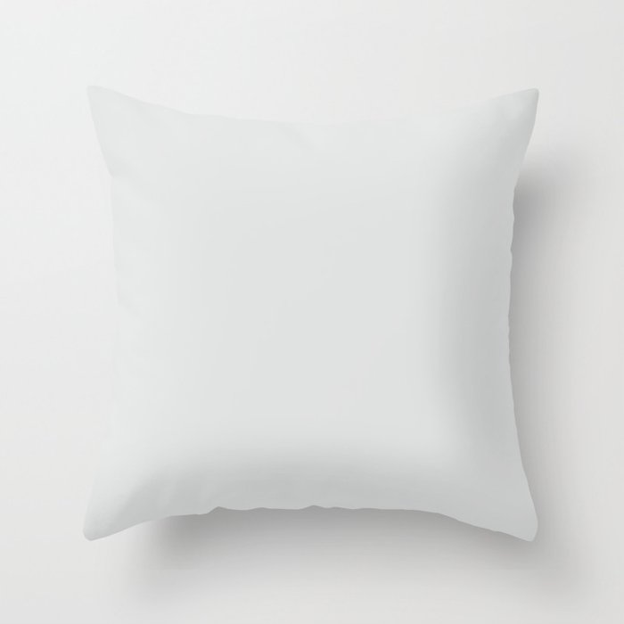 Ultra Light Gray Solid Color Pairs w/ Sherwin Williams 2020 Trending Color Rock Candy SW6231 Throw Pillow