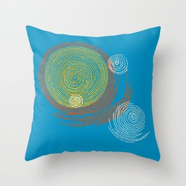 Stitches - Solar flare Throw Pillow