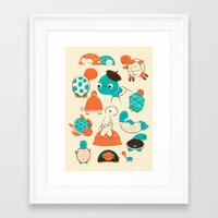 turtles Framed Art Prints featuring Turtles by Jay Fleck
