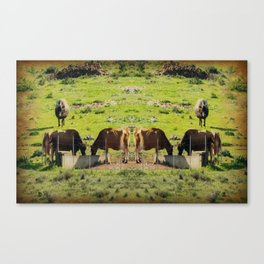 Life On An African Farm - Paintography Canvas Print